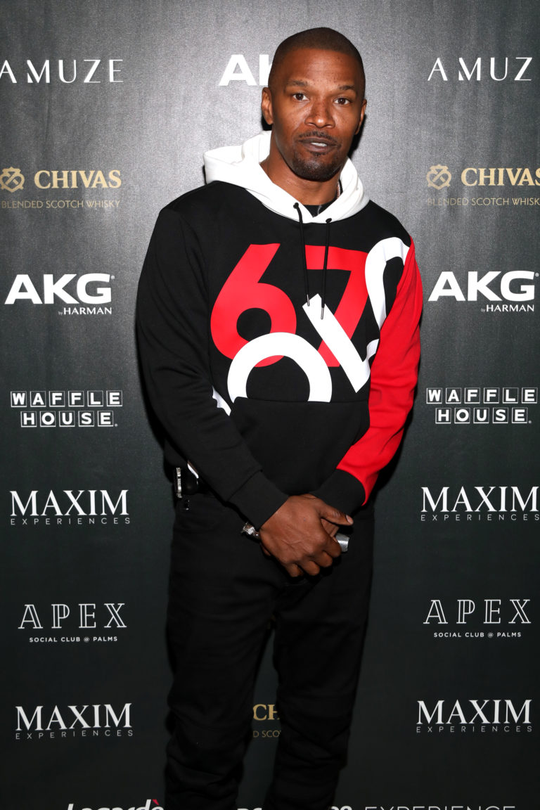 Jamie Foxx attends The Maxim Big Game Experience (Photo by Jerritt Clark/Getty Images for Maxim )