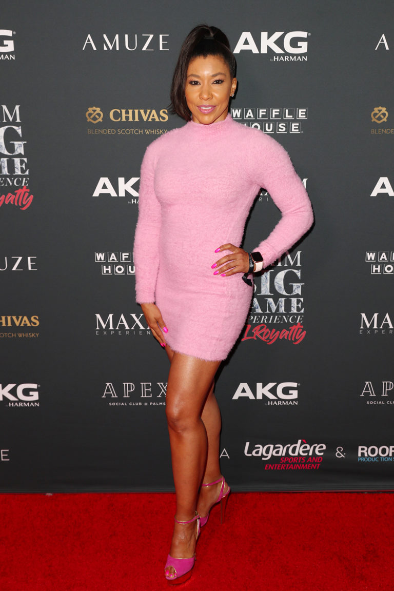 Jeanette Jenkins attends The Maxim Big Game Experience (Photo by Joe Scarnici/Getty Images for Maxim)