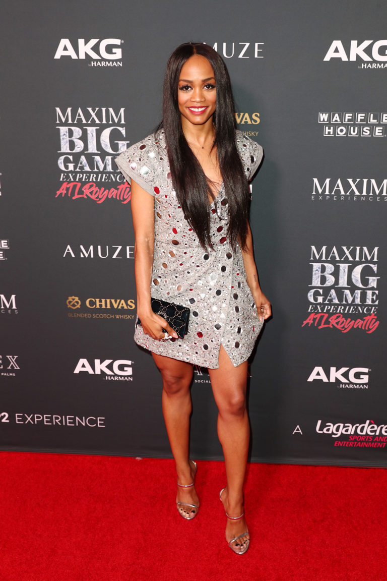 Rachel Lindsay attends The Maxim Big Game Experience (Photo by Joe Scarnici/Getty Images for Maxim)