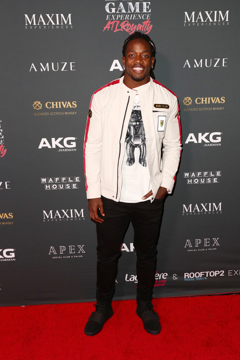 Melvin Gordon III attends The Maxim Big Game Experience (Photo by Joe Scarnici/Getty Images for Maxim)