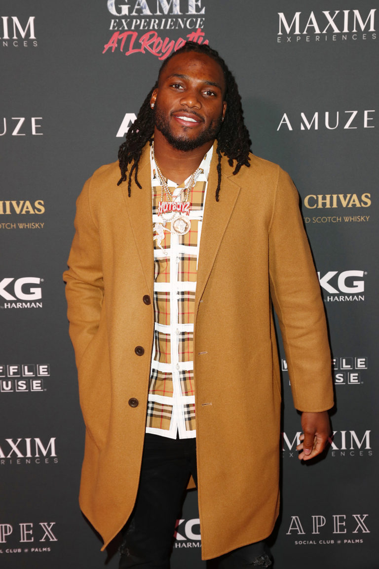 Jaylon Smith attends The Maxim Big Game Experience (Photo by Joe Scarnici/Getty Images for Maxim)