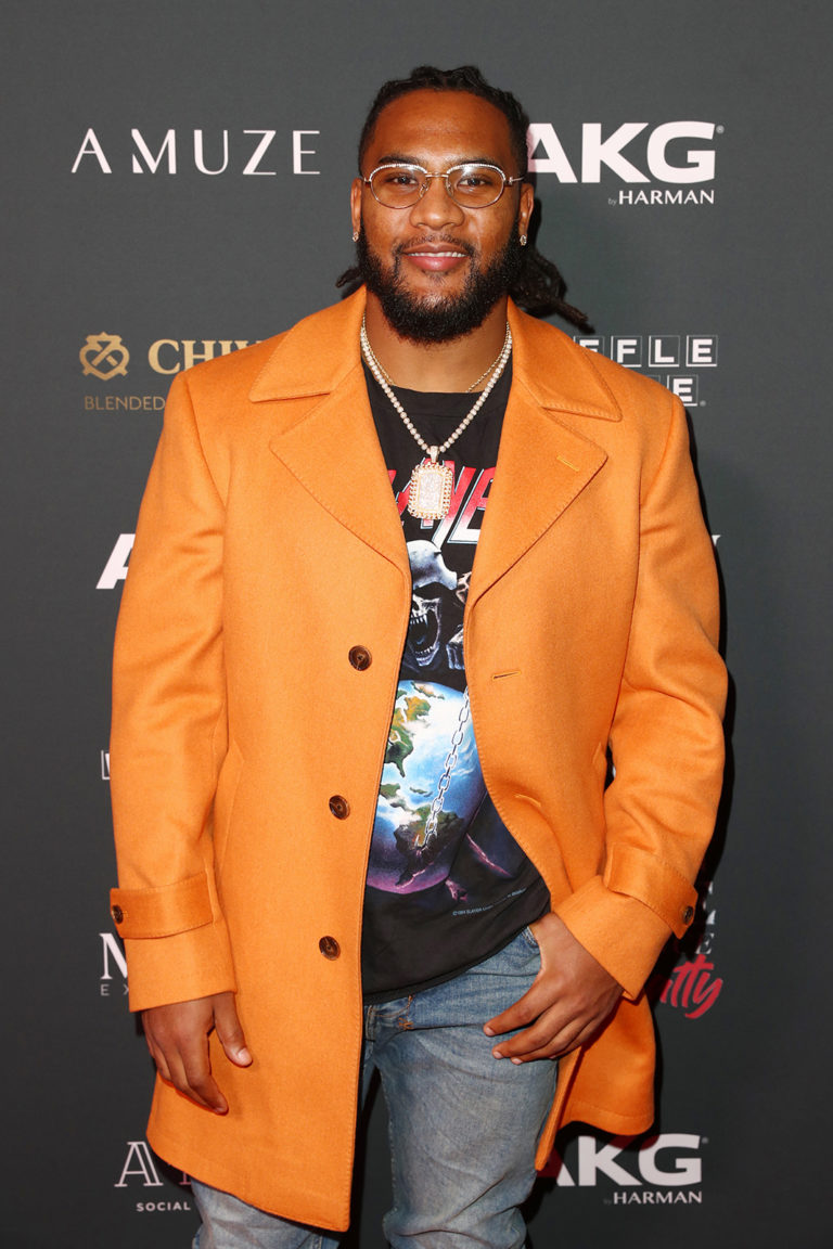 TJ Ward attends The Maxim Big Game Experience (Photo by Joe Scarnici/Getty Images for Maxim)