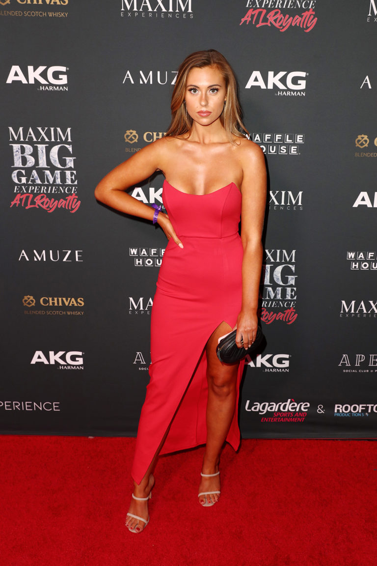 Madeline Kate Brunkey attends The Maxim Big Game Experience (Photo by Joe Scarnici/Getty Images for Maxim)