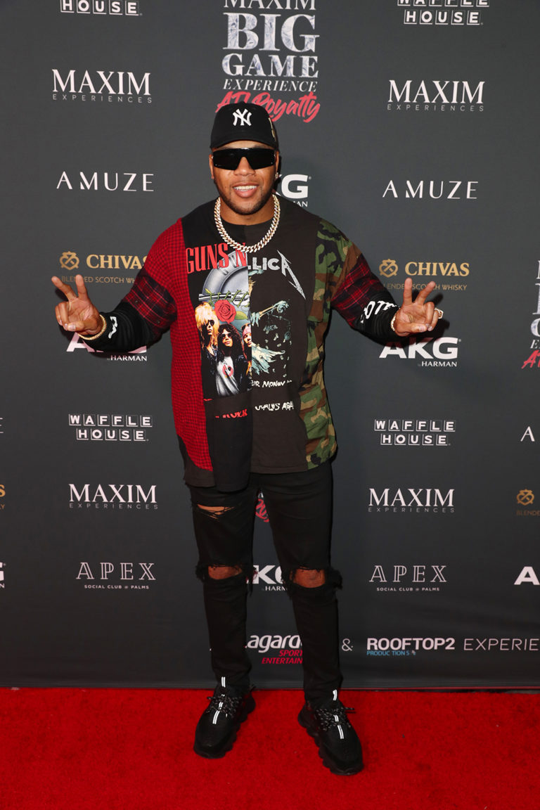 ATLANTA, GEORGIA - FEBRUARY 02: Flo Rida attends The Maxim Big Game Experience at The Fairmont on February 02, 2019 in Atlanta, Georgia. (Photo by Joe Scarnici/Getty Images for Maxim)
