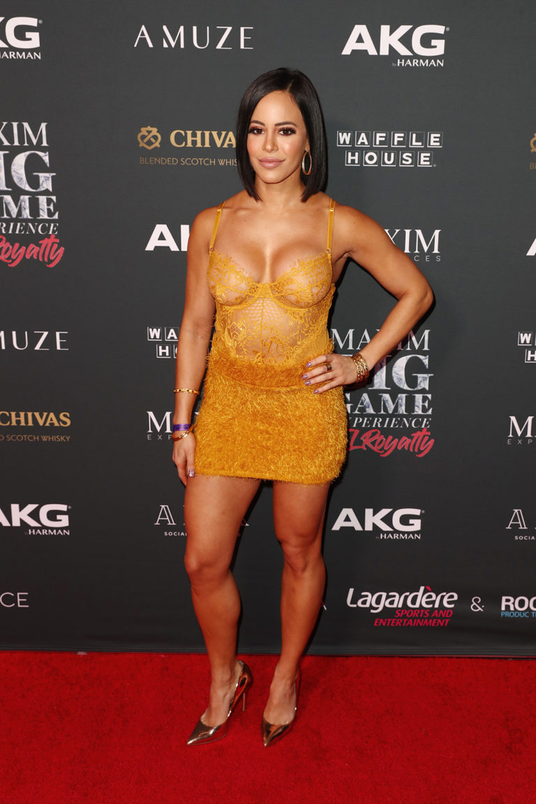 Charly Arnolt attends The Maxim Big Game Experience (Photo by Joe Scarnici/Getty Images for Maxim)