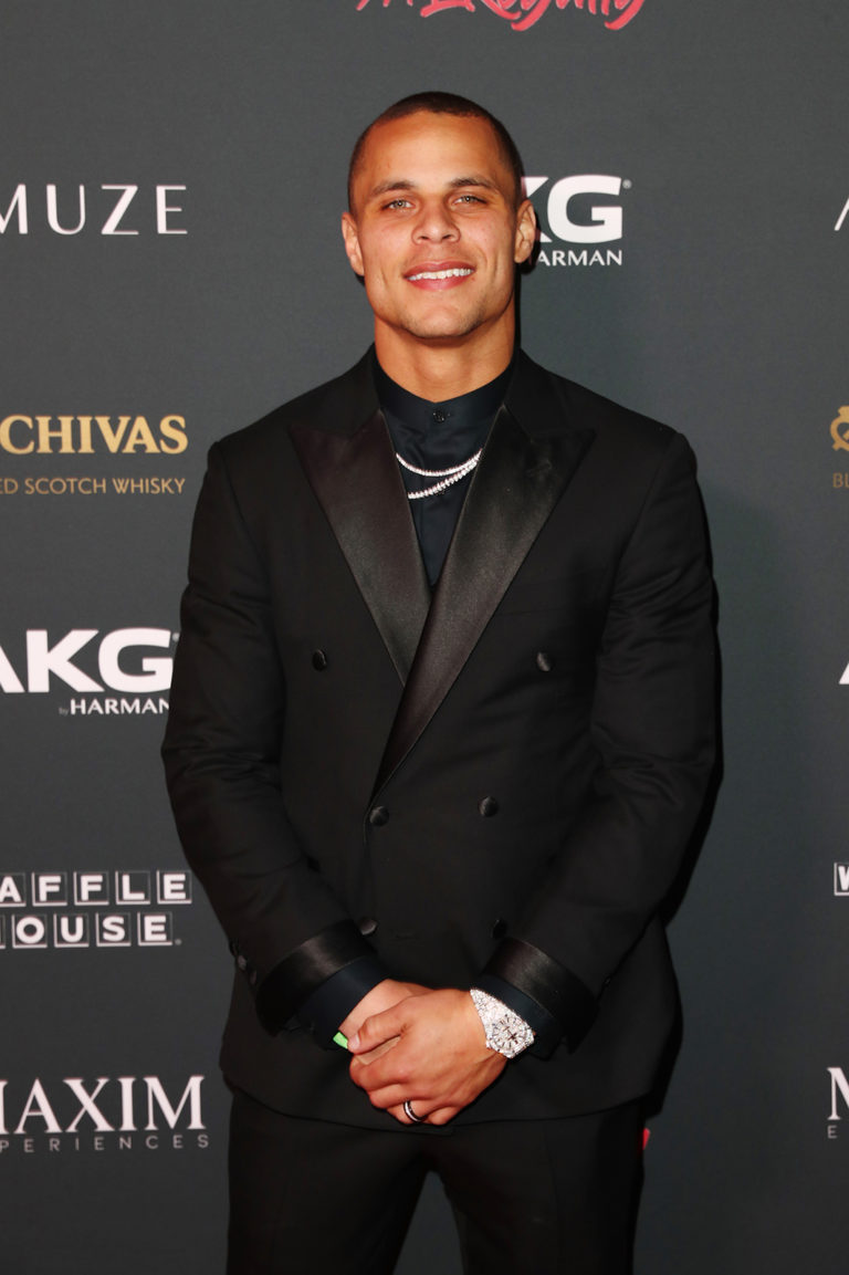 Jordan Poyer attends The Maxim Big Game Experience (Photo by Joe Scarnici/Getty Images for Maxim)