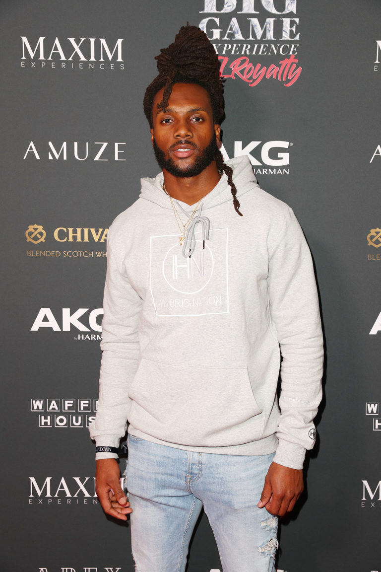 Isaac Whitney attends The Maxim Big Game Experience (Photo by Joe Scarnici/Getty Images for Maxim)
