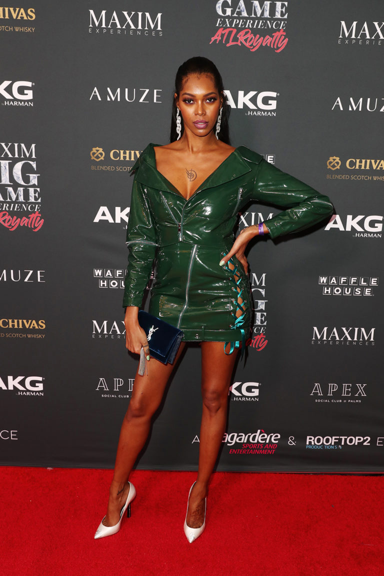 Jessica White attends The Maxim Big Game Experience (Photo by Joe Scarnici/Getty Images for Maxim)