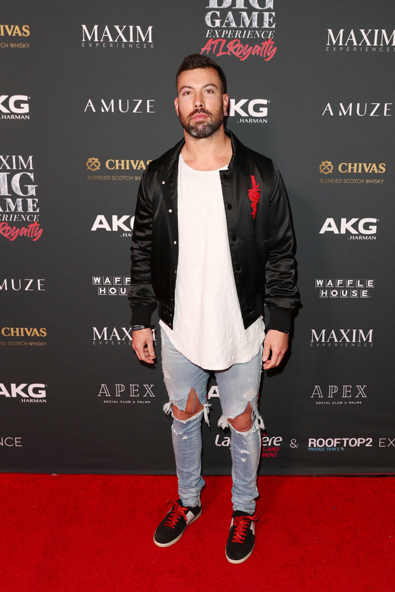 Andrew Sendejo attends The Maxim Big Game Experience (Photo by Joe Scarnici/Getty Images for Maxim)