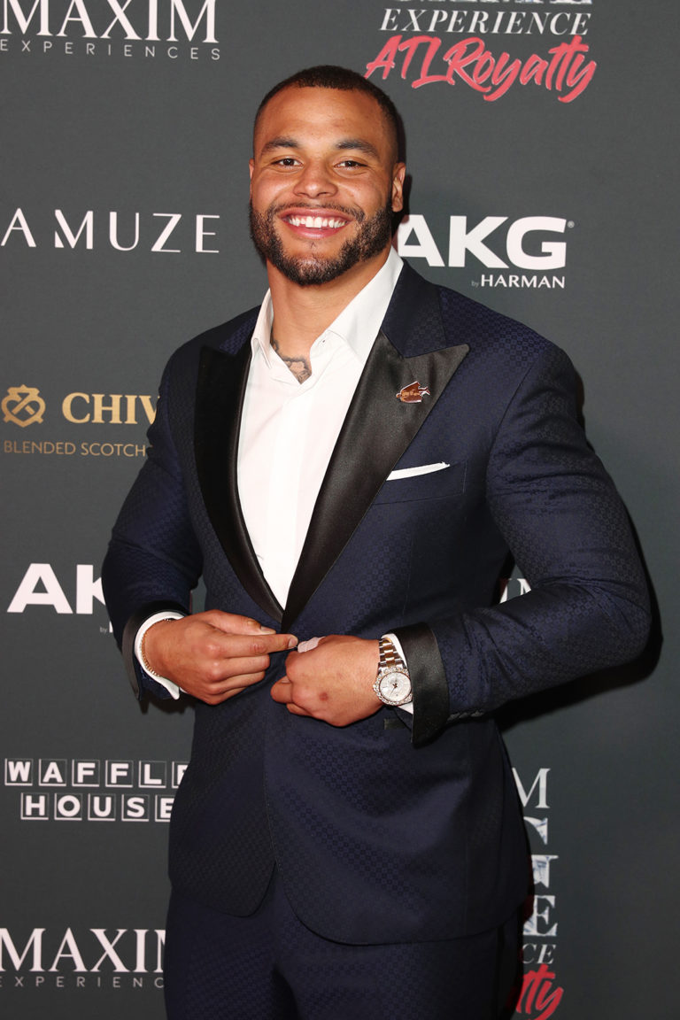 Dak Prescott attends The Maxim Big Game Experience (Photo by Joe Scarnici/Getty Images for Maxim)