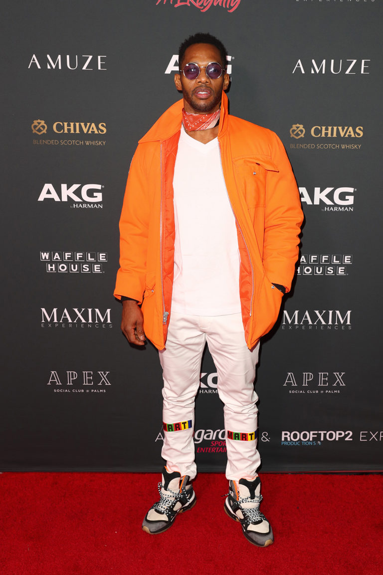 Nikko London attends The Maxim Big Game Experience (Photo by Joe Scarnici/Getty Images for Maxim)