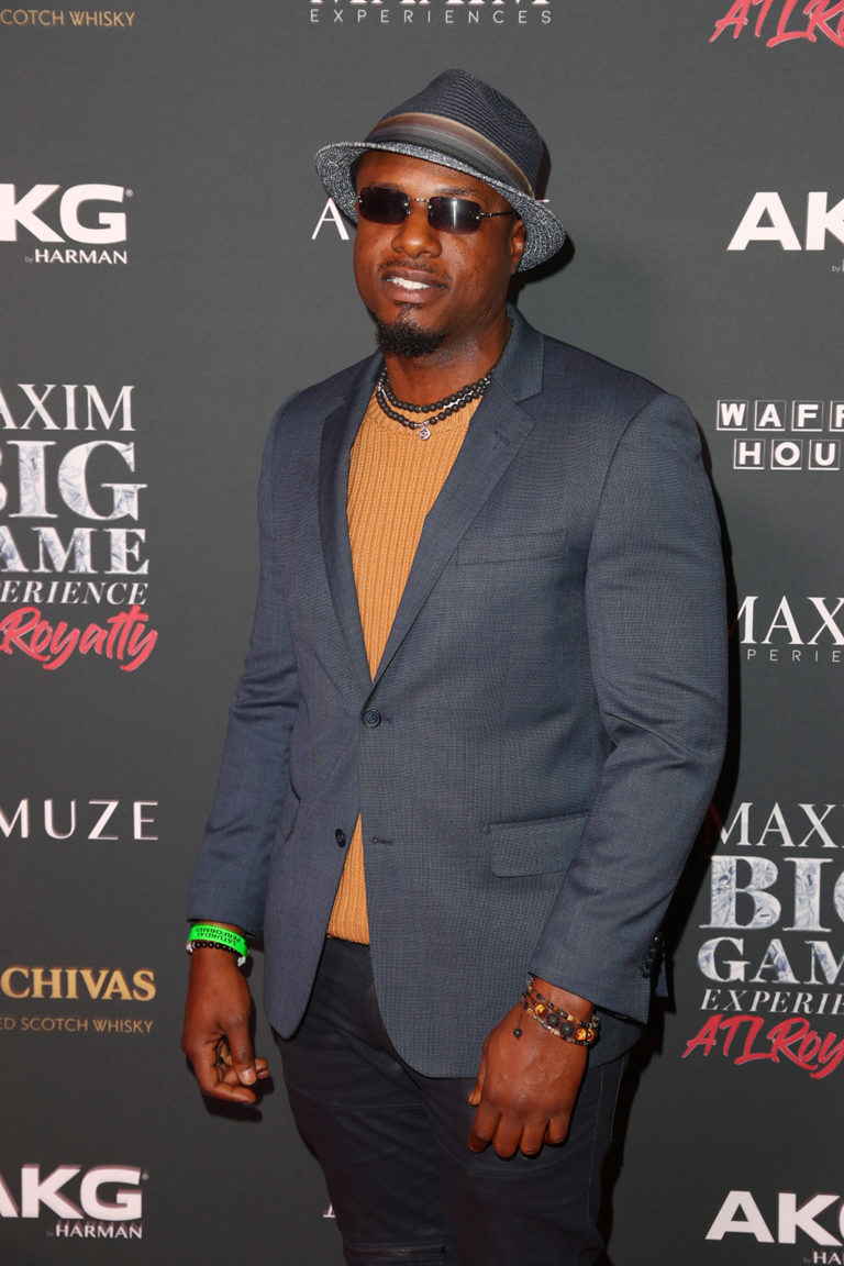 Elgin attends The Maxim Big Game Experience (Photo by Joe Scarnici/Getty Images for Maxim)