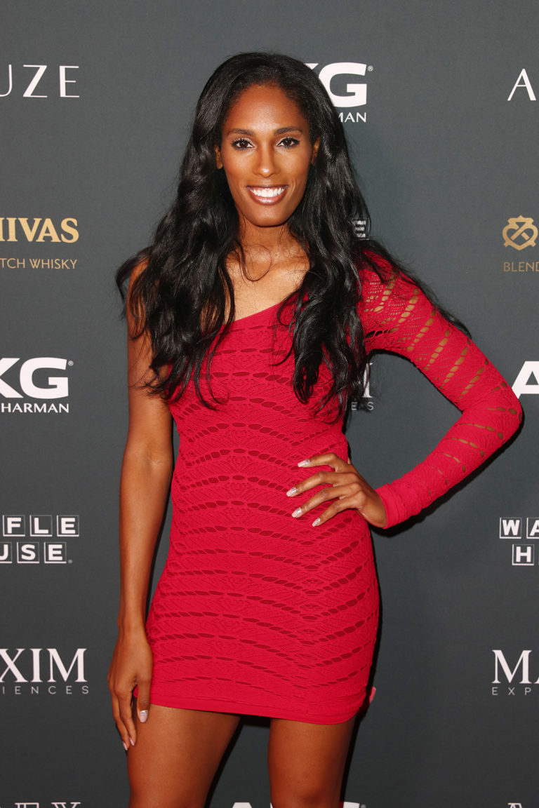 Kristi Castlin attends The Maxim Big Game Experience (Photo by Joe Scarnici/Getty Images for Maxim)