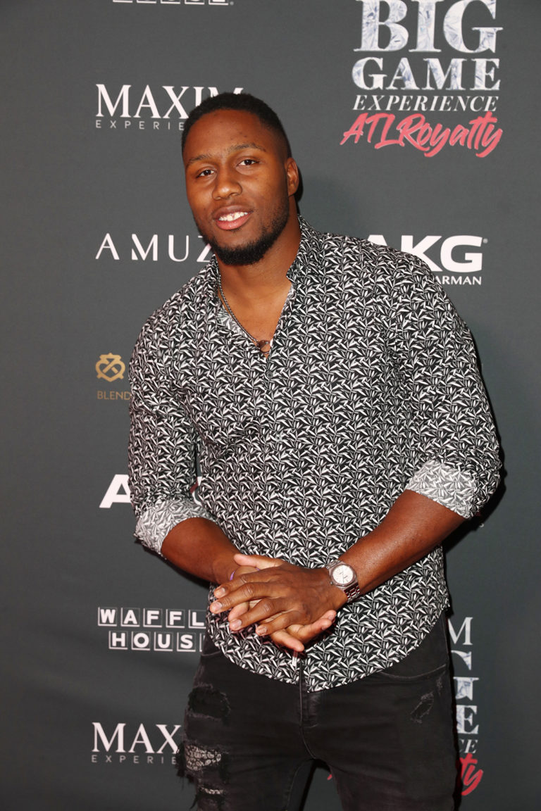 Carlos Dunlap attends The Maxim Big Game Experience (Photo by Joe Scarnici/Getty Images for Maxim)