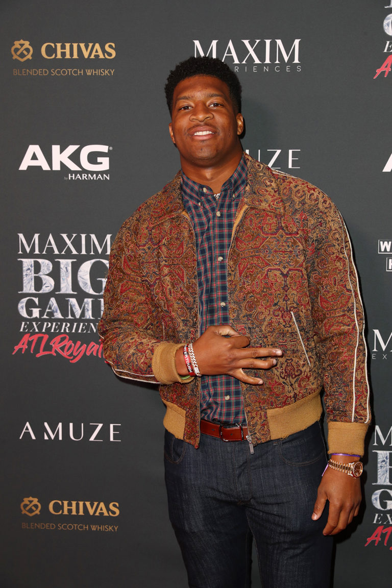 Jameis Winston attends The Maxim Big Game Experience (Photo by Joe Scarnici/Getty Images for Maxim)