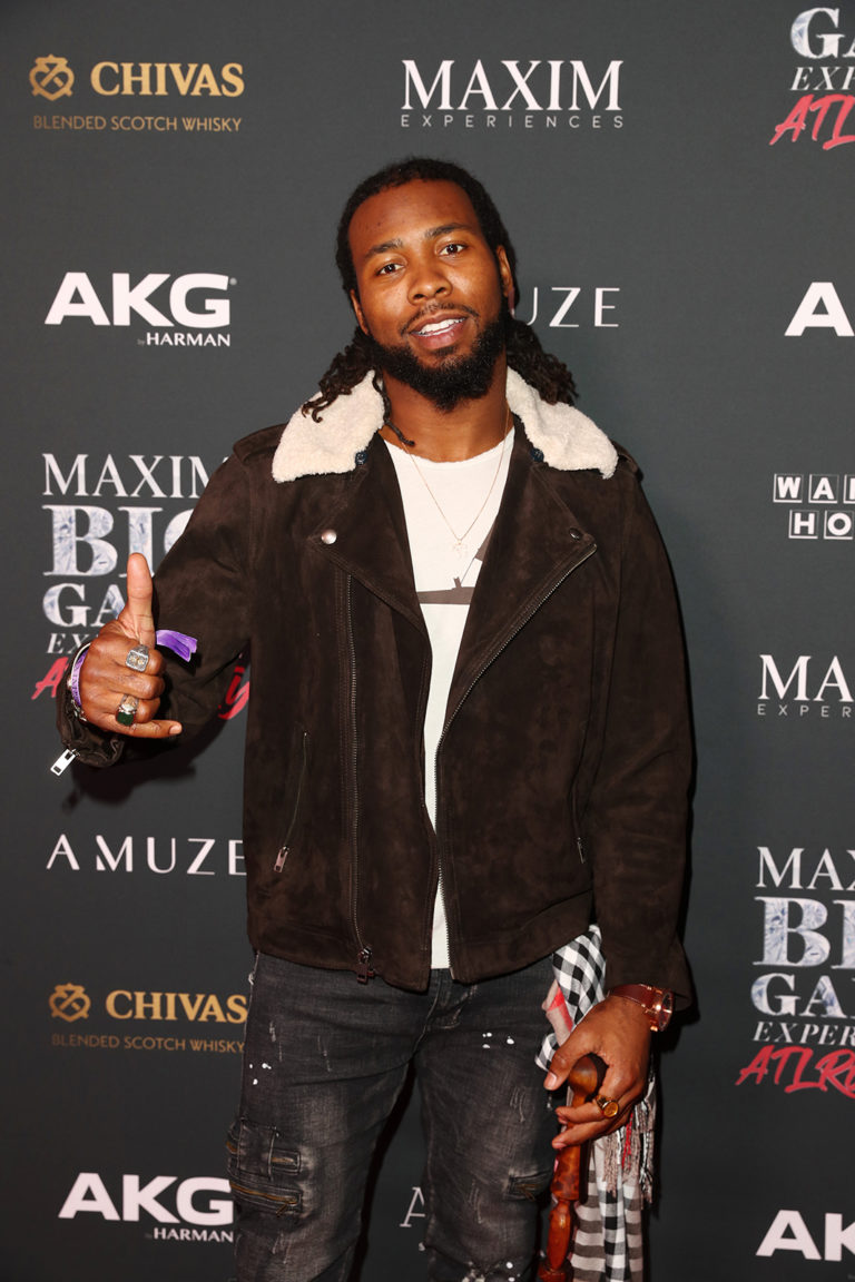 Josh Norman attends The Maxim Big Game Experience (Photo by Joe Scarnici/Getty Images for Maxim)