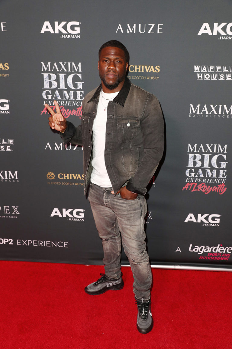 Kevin Hart attends The Maxim Big Game Experience (Photo by Joe Scarnici/Getty Images for Maxim)