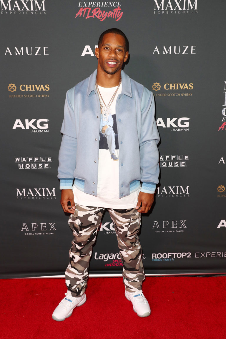 Victor Cruz attends The Maxim Big Game Experience (Photo by Joe Scarnici/Getty Images for Maxim)