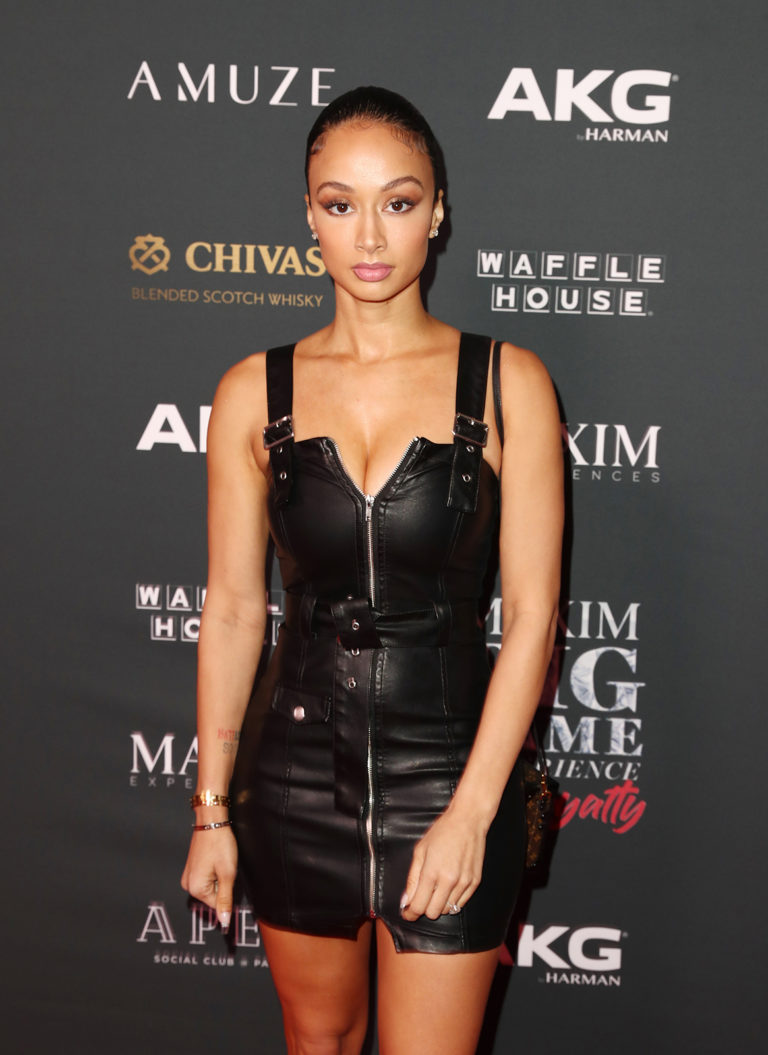 Draya Michele attends The Maxim Big Game Experience (Photo by Joe Scarnici/Getty Images for Maxim)