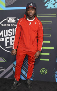 Alvin Kamara @ Bud SB Music Fest Thursday Night (Josh Bridgett/Forever Clear Media LLC)