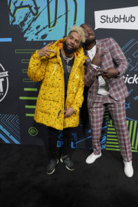Odell Beckham Jr. & Akbar GBajabiamila @ Bud SB Music Fest Thursday Night (Josh Bridgett/Forever Clear Media LLC)